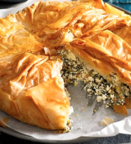 Romanian Spinach and Feta Pie