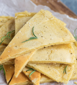 Chickpea Pancake With Rosemary