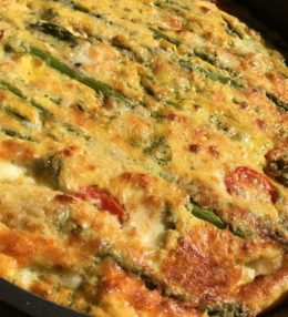 Oven-Baked Eggs and Asparagus